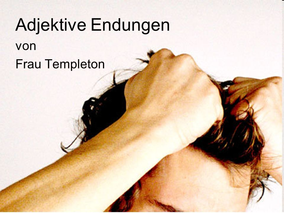 Adjektive Endungen von Frau Templeton