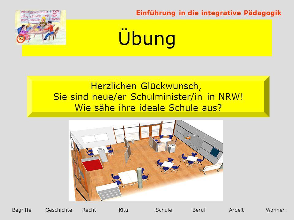 Übung Einführung in die integrative Pädagogik BegriffeGeschichteRechtKitaSchuleBerufArbeitWohnen Was macht eigentlich Hagen in der Schulzeit.