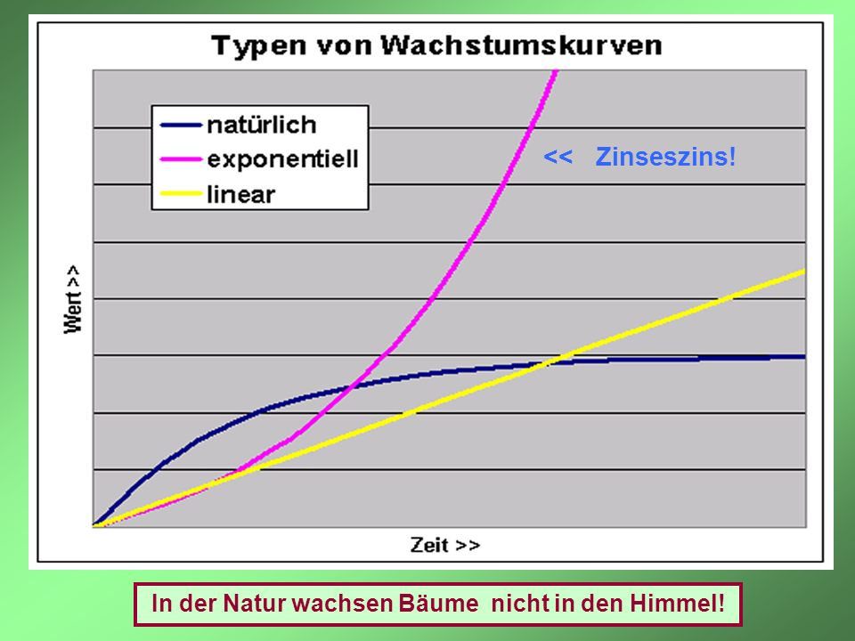 In der Natur wachsen Bäume nicht in den Himmel! << Zinseszins!