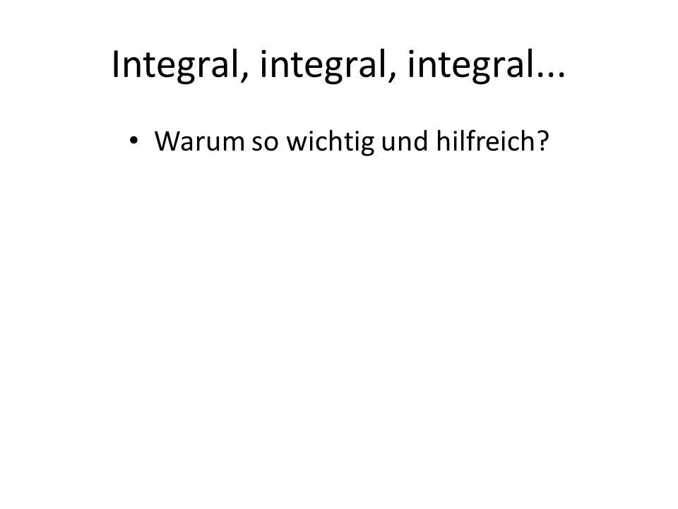 Integral, integral, integral... Warum so wichtig und hilfreich?