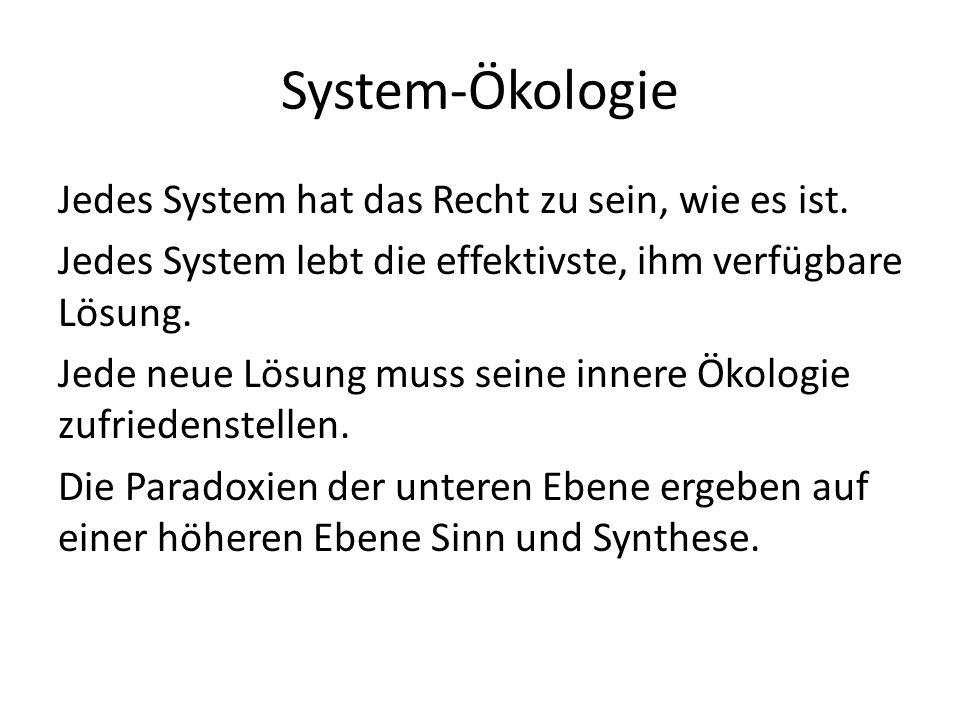 System-Ökologie Jedes System hat das Recht zu sein, wie es ist.