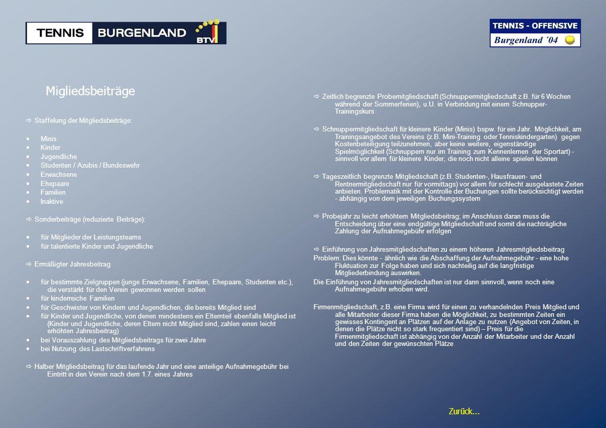 Zurück... Migliedsbeiträge Staffelung der Mitgliedsbeiträge: Minis Kinder Jugendliche Studenten / Azubis / Bundeswehr Erwachsene Ehepaare Familien Ina