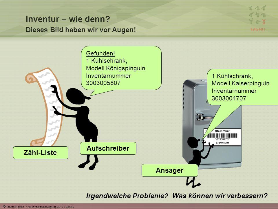 hallobtf.gmbh / Kai-Inventarisierungstag 2010 / Seite 10 Inventur – wie denn.