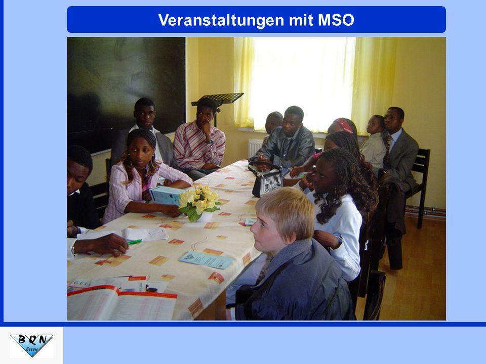 Veranstaltungen mit MSO