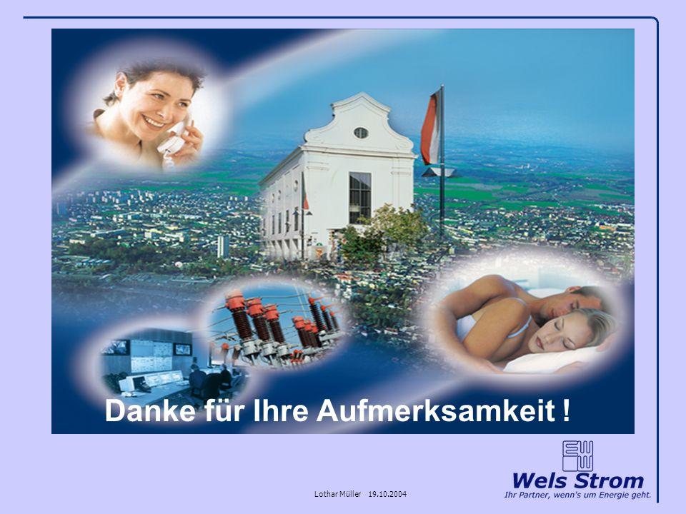 Lothar Müller 19.10.2004 Danke für Ihre Aufmerksamkeit !