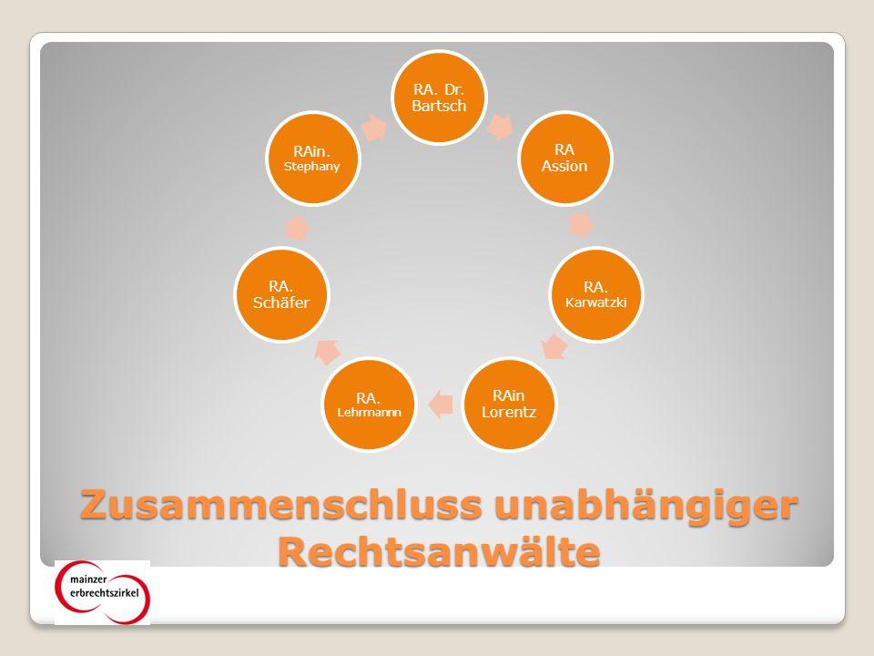 Mainzer Erbrechtszirkel Fortbildung Öffentlichkeits arbeit Marketing- Instrument Informations- Pool