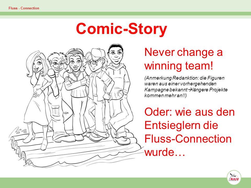 Fluss - Connection Comic-Story Never change a winning team! (Anmerkung Redanktion: die Figuren waren aus einer vorhergehenden Kampagne bekannt längere