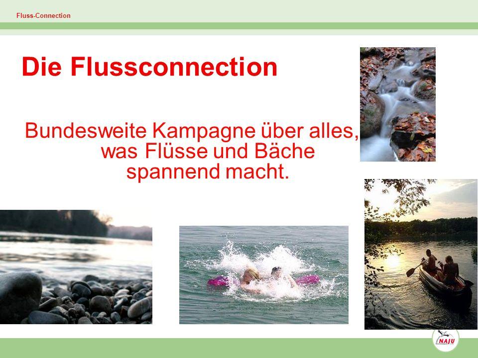 Bundesweite Kampagne über alles, was Flüsse und Bäche spannend macht. Die Flussconnection