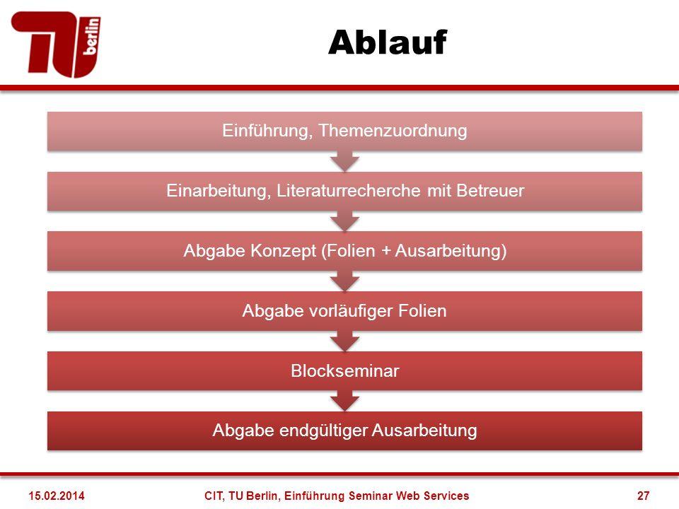 Kontakt Dr.Felix Heine felix.heine@tu-berlin.de 314-22799 EN 030 Dr.