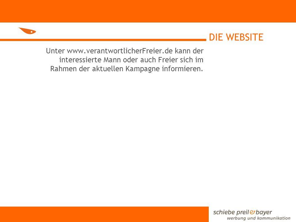 DIE WEBSITE Unter www.verantwortlicherFreier.de kann der interessierte Mann oder auch Freier sich im Rahmen der aktuellen Kampagne informieren.