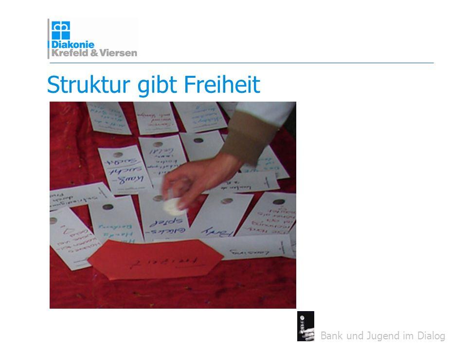 Bank und Jugend im Dialog Struktur gibt Freiheit