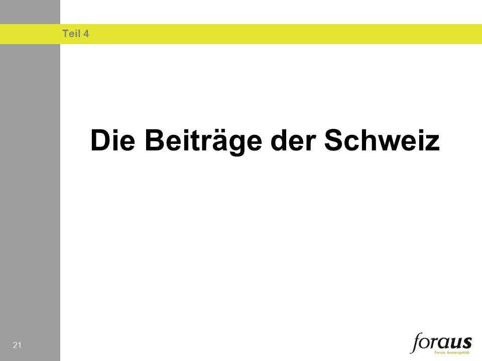 21 Teil 4 Die Beiträge der Schweiz