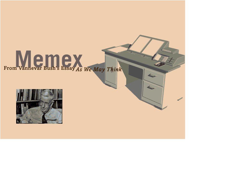 Media Design Center, TU-Dresden Sigmar-Olaf Tergan Lernen und Wissensmanagement Memory Extender MEMEX (Bush, 1945)
