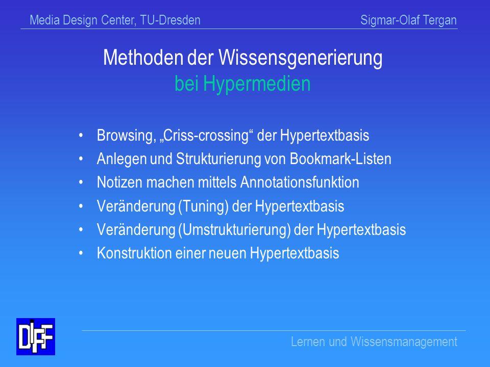 Media Design Center, TU-Dresden Sigmar-Olaf Tergan Lernen und Wissensmanagement Gruppen-Brainstorming (evl.