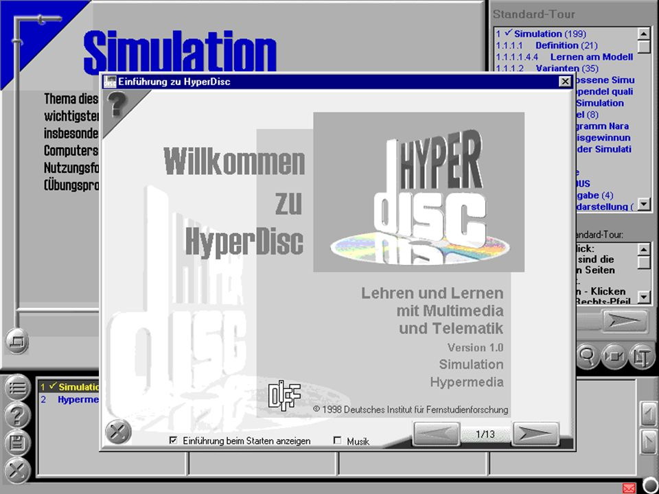 Media Design Center, TU-Dresden Sigmar-Olaf Tergan Lernen und Wissensmanagement Screenshots