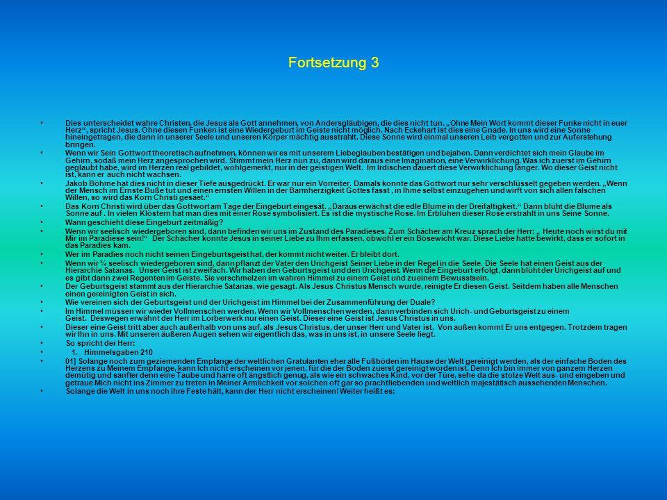 Fortsetzung 2 In der Psychologie wird dieser Geist unser Unterbewusstsein genannt, das wie ein störrischer Esel ist. Erinnern wir uns an das Gleichnis