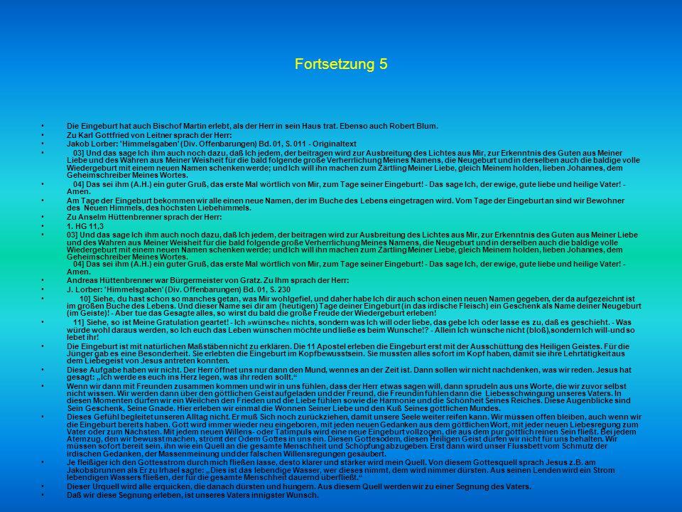 Fortssetzung 4 02] Da warte Ich dann geduldig trauernd so lange, bis ein solcher Rummel vorüber ist und auch die weltlichen Fußböden ein wenig abgesch