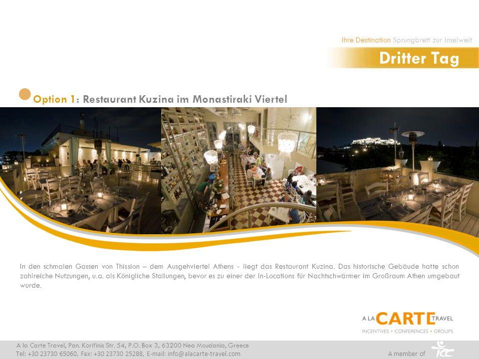 In den schmalen Gassen von Thission – dem Ausgehviertel Athens - liegt das Restaurant Kuzina.