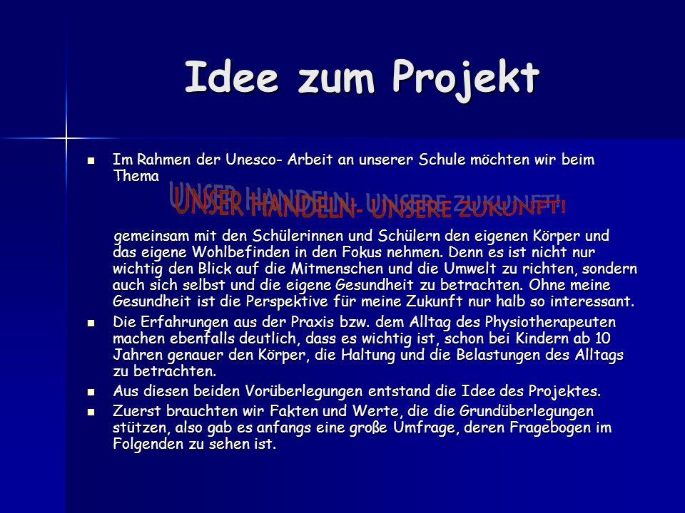 Idee zum Projekt Im Rahmen der Unesco- Arbeit an unserer Schule möchten wir beim Thema Im Rahmen der Unesco- Arbeit an unserer Schule möchten wir beim