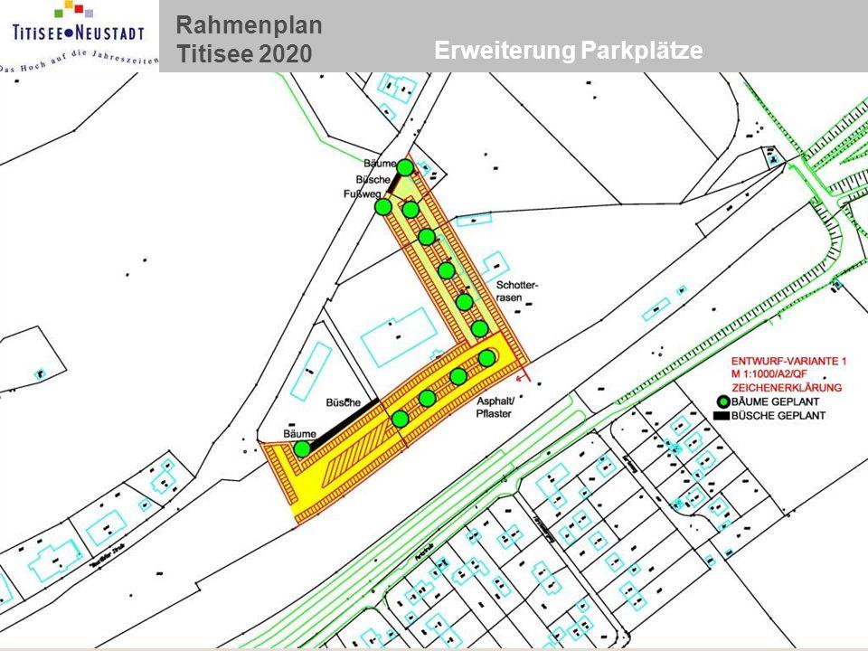 Rahmenplan Titisee 2020 Erweiterung Parkplätze