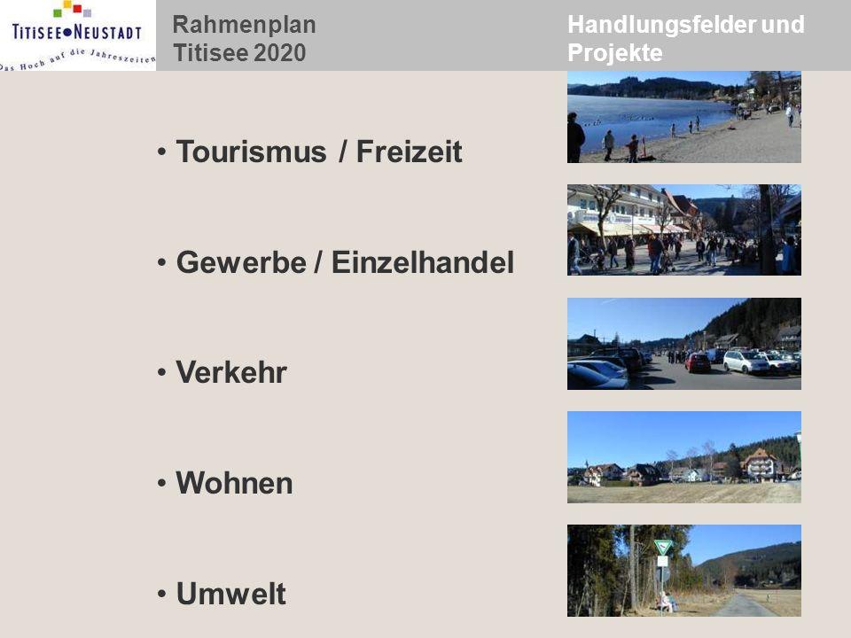 Rahmenplan Titisee 2020 Handlungsfelder und Projekte Tourismus / Freizeit Gewerbe / Einzelhandel Verkehr Wohnen Umwelt