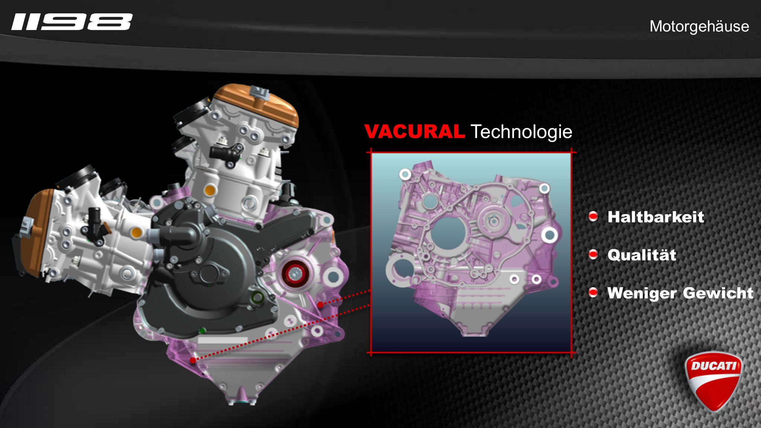 VACURAL Technologie Haltbarkeit Qualität Weniger Gewicht Motorgehäuse