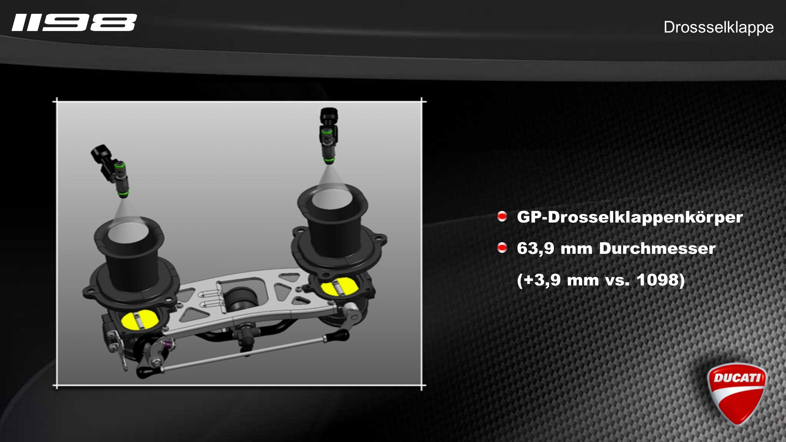 Drossselklappe GP-Drosselklappenkörper 63,9 mm Durchmesser (+3,9 mm vs. 1098)