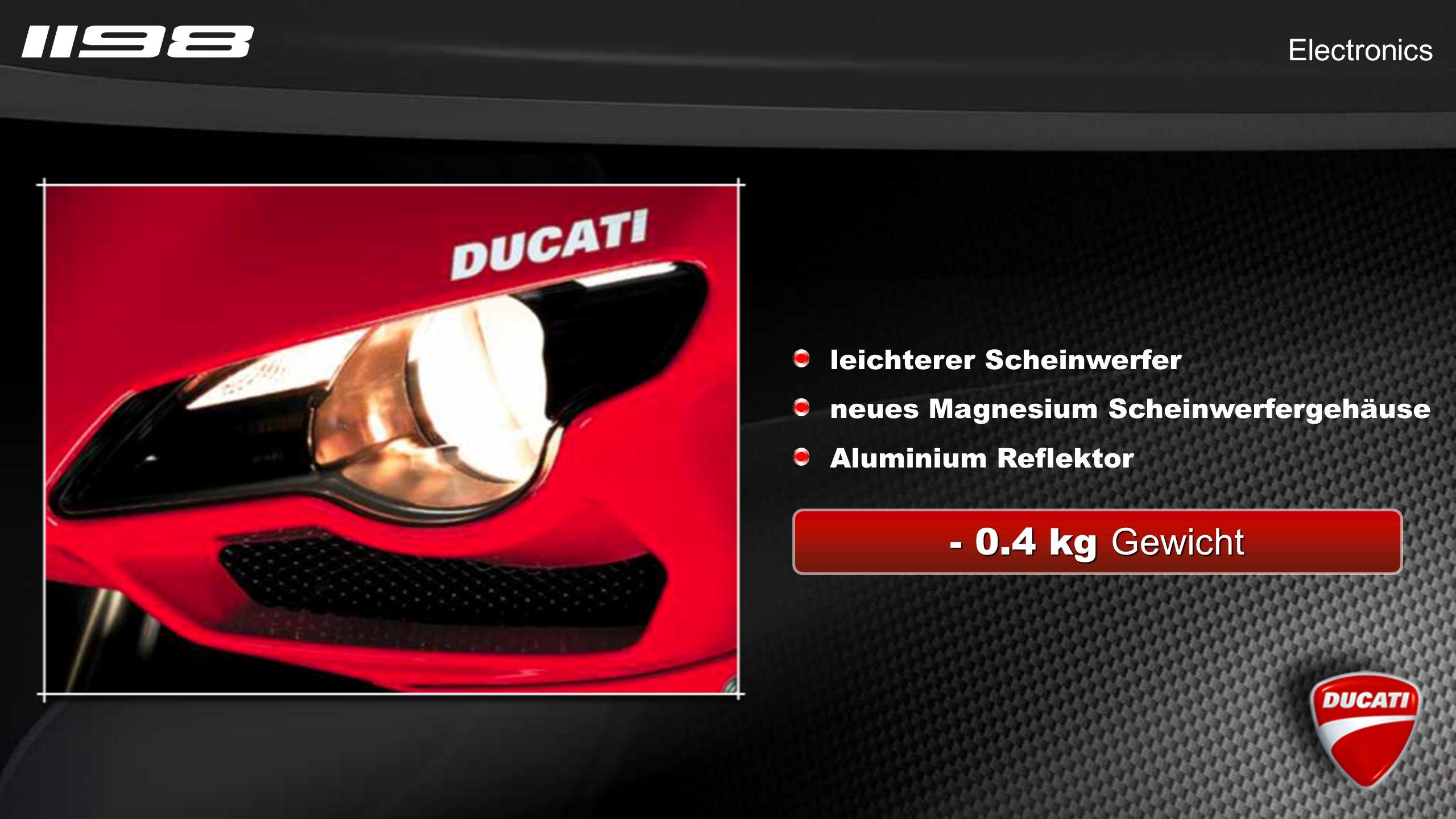 - 0.4 kg Gewicht Electronics leichterer Scheinwerfer neues Magnesium Scheinwerfergehäuse Aluminium Reflektor