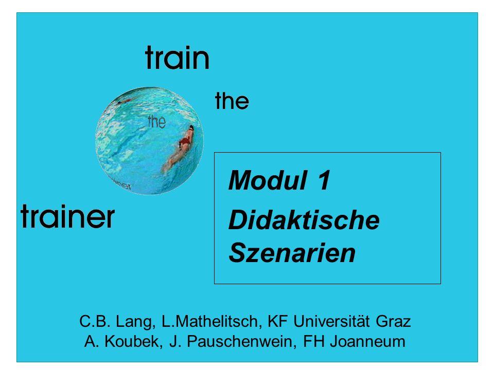 Modul 1 Didaktische Szenarien C.B. Lang, L.Mathelitsch, KF Universität Graz A.