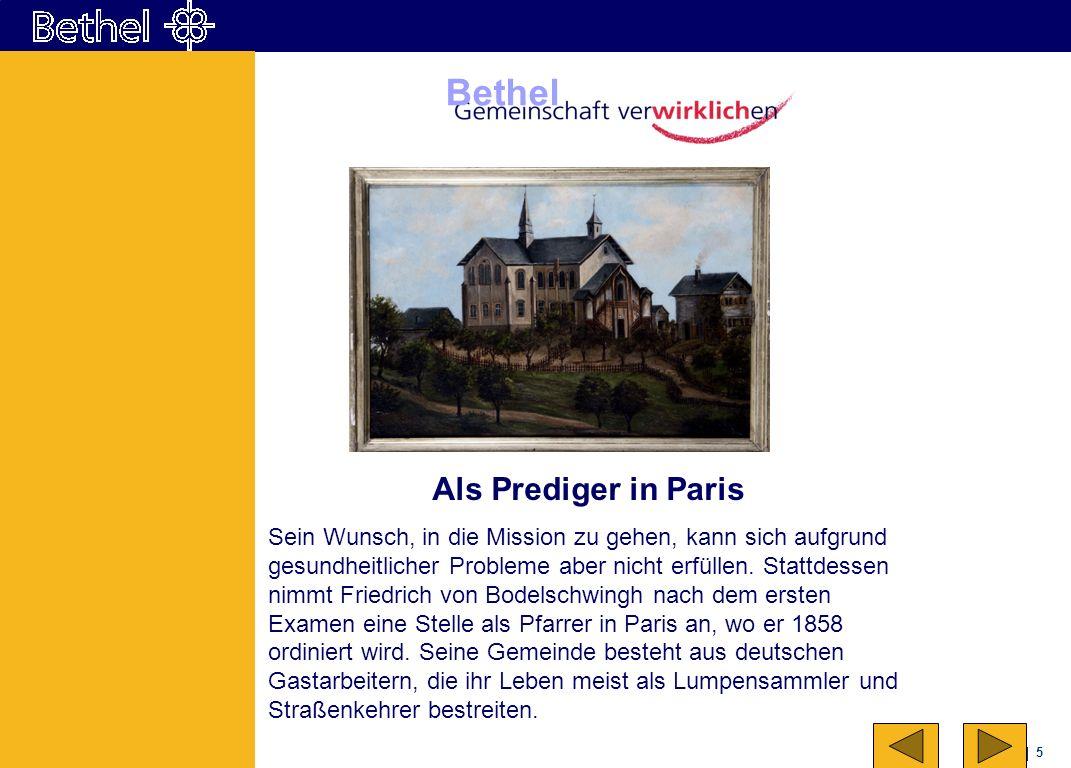 16 Bethel Eine Lebensleistung Unter der Leitung Friedrich von Bodelschwinghs entwickelt sich in Jahrzehnten die kleine Anstalt für Menschen mit Epilepsie zu einer großen Einrichtung.