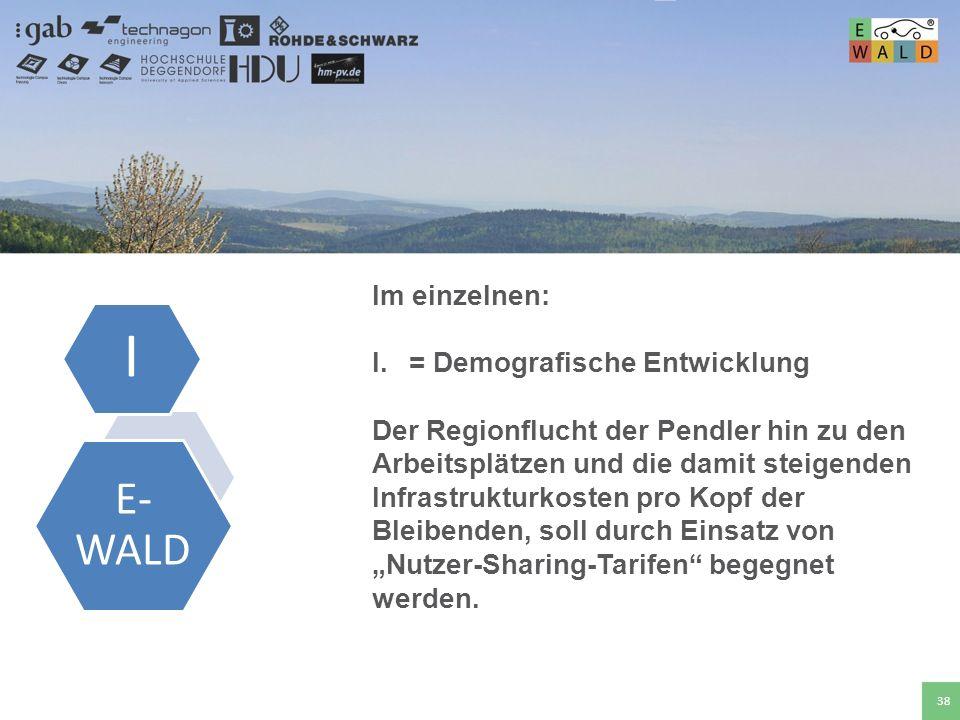 Hochschule für angewandte Wissenschaften Deggendorf 38 Im einzelnen: I.= Demografische Entwicklung Der Regionflucht der Pendler hin zu den Arbeitsplät