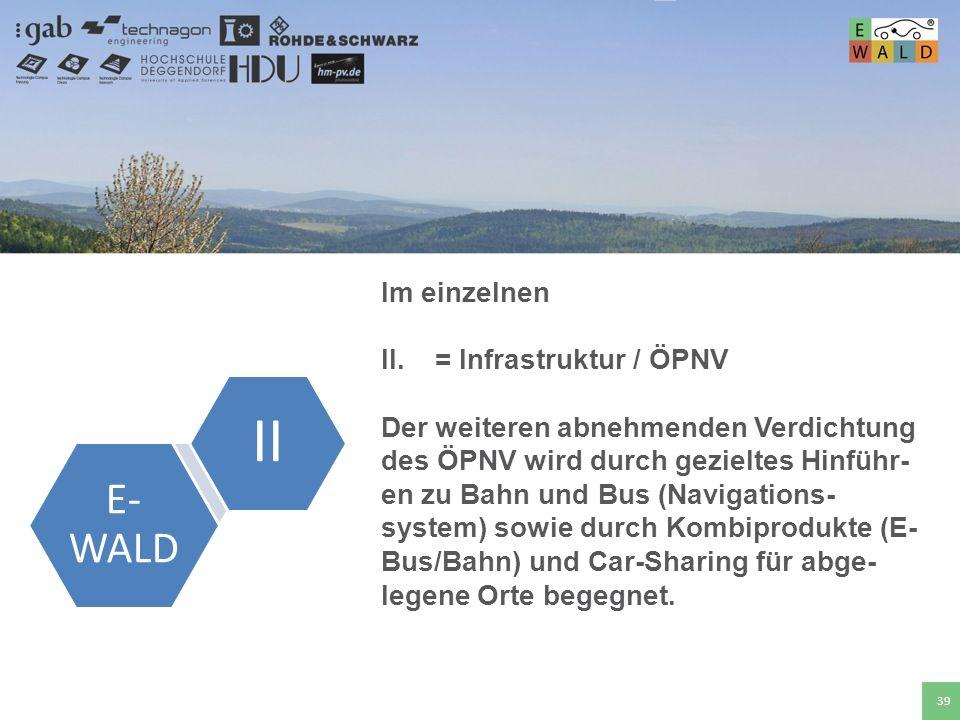 Hochschule für angewandte Wissenschaften Deggendorf 39 Im einzelnen II.= Infrastruktur / ÖPNV Der weiteren abnehmenden Verdichtung des ÖPNV wird durch