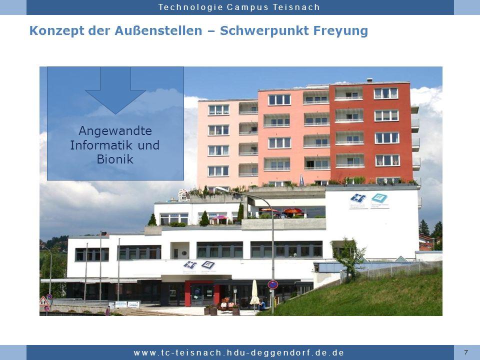 Hochschule für angewandte Wissenschaften Deggendorf Technologie Campus Teisnach Konzept der Außenstellen – Schwerpunkt Freyung 7 www.tc-teisnach.hdu-d