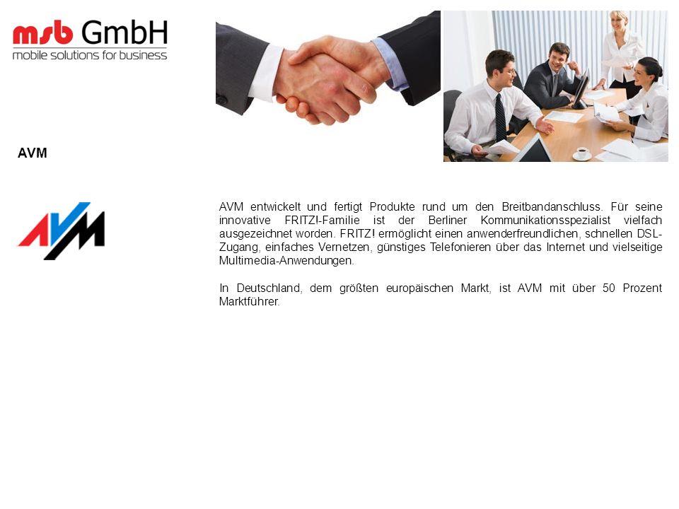 AVM entwickelt und fertigt Produkte rund um den Breitbandanschluss.