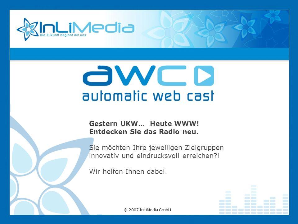Gestern UKW… Heute WWW. Entdecken Sie das Radio neu.