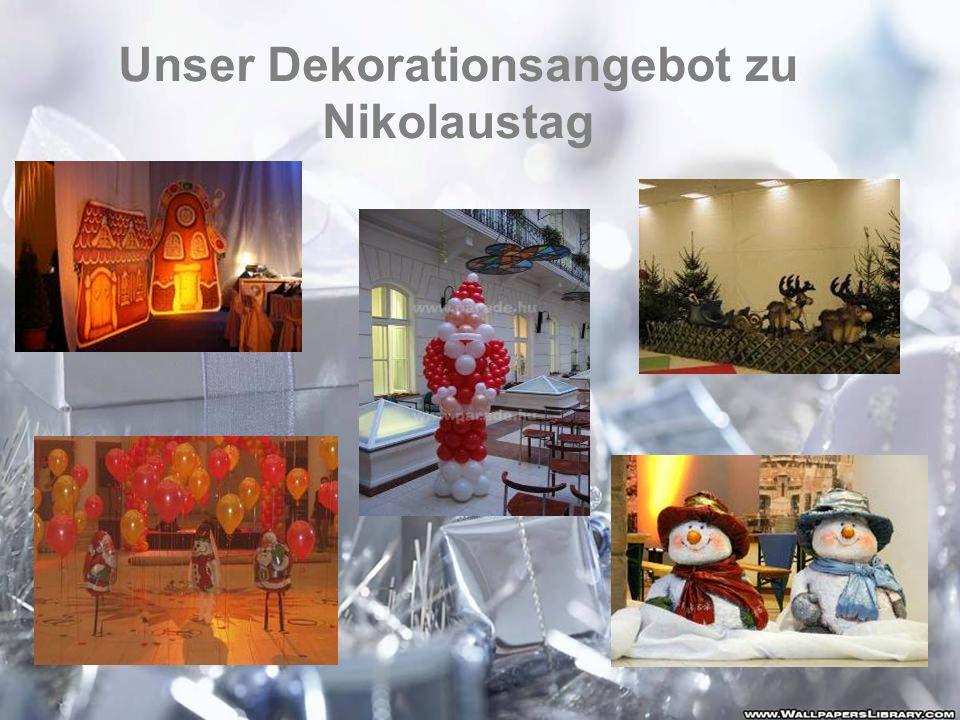 Unser Dekorationsangebot zu Nikolaustag
