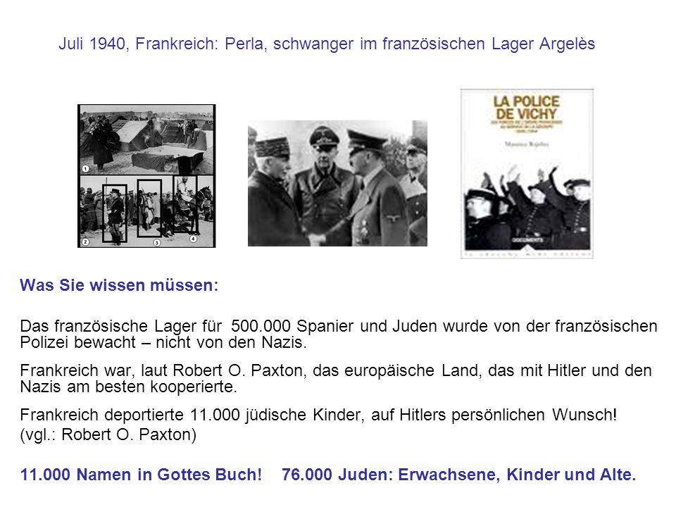 Juli 1940, Frankreich: Perla, schwanger im französischen Lager Argelès Was Sie wissen müssen: Das französische Lager für 500.000 Spanier und Juden wur