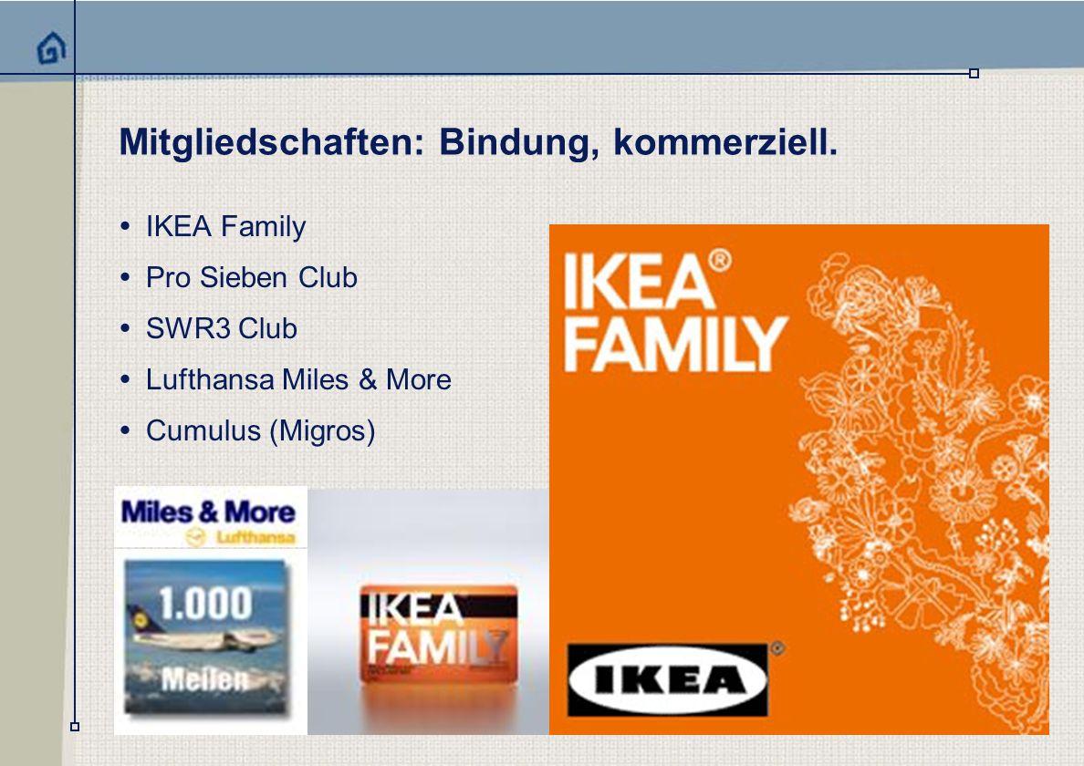 one marketing services Mitgliedschaften: Bindung, kommerziell.
