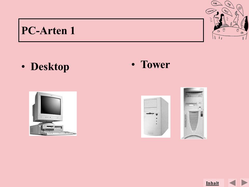 PC-Arten 1 Desktop Tower Inhalt