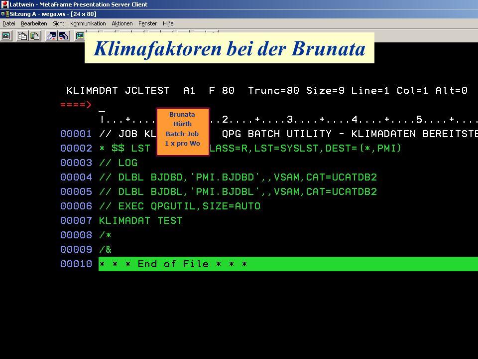 Klimafaktoren bei der Brunata Brunata Hürth Batch-Job 1 x pro Wo