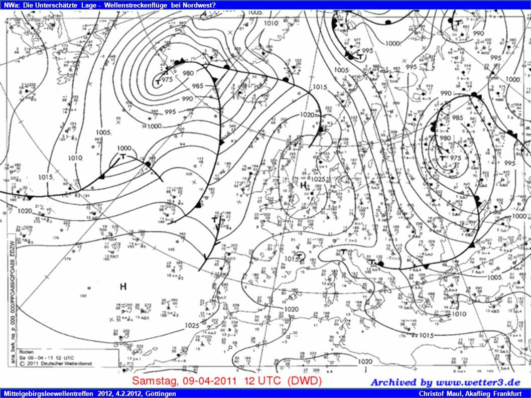 Mittelgebirgsleewellentreffen 2012, 4.2.2012, GöttingenChristof Maul, Akaflieg Frankfurt NWa: Die Unterschätzte Lage - Wellenstreckenflüge bei Nordwest
