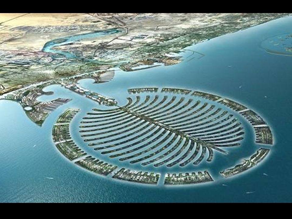 Lisola-palma di Dubai Die Palmen-Inseln von Dubai Una nuova tecnologia olandese di costruzione di dighe rende possibile costruire un così elevato nume