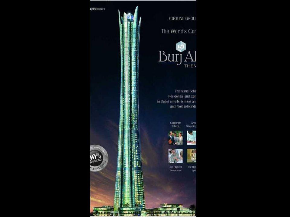 Burj al Alam (The World Tower) Con la sua costruzione diverrà il più alto hotel del mondo. Con i suoi 480 metri sarà più basso di solo 28 metri del Ta
