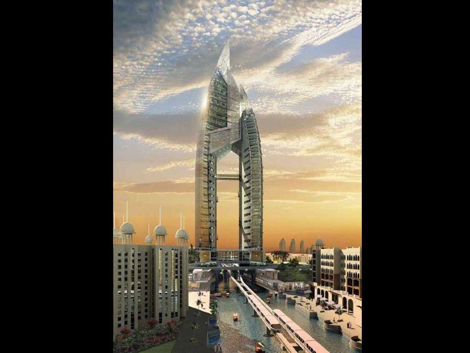 The Trump International Hotel & Tower sarà il centro delle tre isole-palma, il Palme Jumeirah. wird das Zentrum einer der drei Palm- insel-gruppen, de