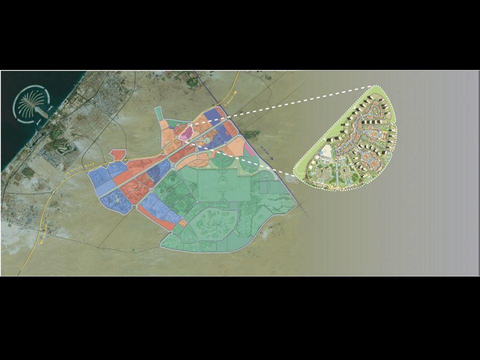 Dubailand costa 20 Miliardi di US-Dollari. Sono previste 45 grandi rotaie e 200 più piccole. Dubailand kostet 20 Milliarden US-Dollar. Geplant sind 45