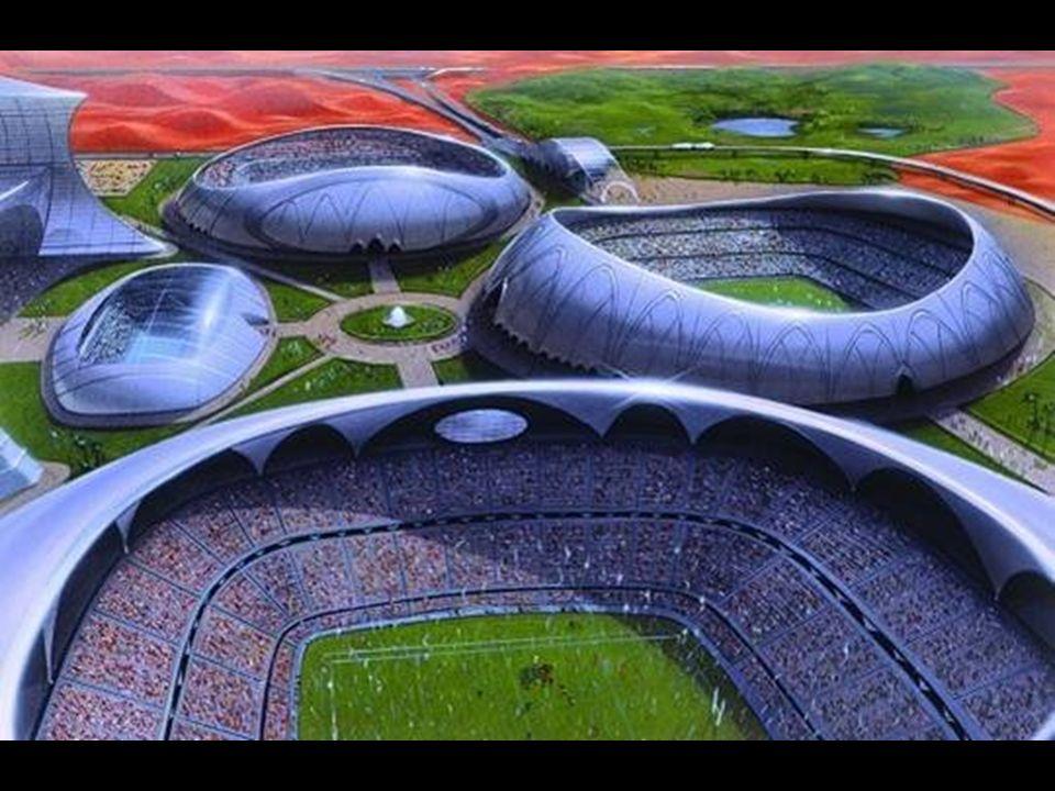 Dubai Sports City Unenorme accorpamento di vari stadi sportivi a Dubailand Eine enorme Ansammlung von verschiedenen Sportstadien im Dubailand