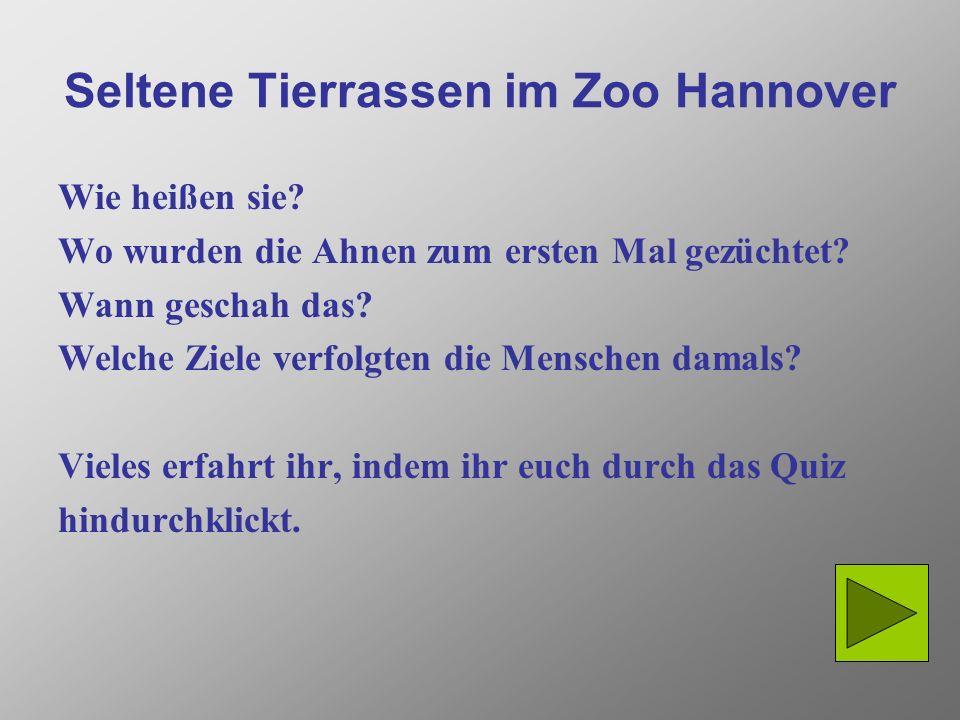 Seltene Tierrassen im Zoo Hannover Wie heißen sie.