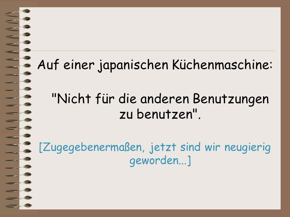 Auf einer japanischen Küchenmaschine: