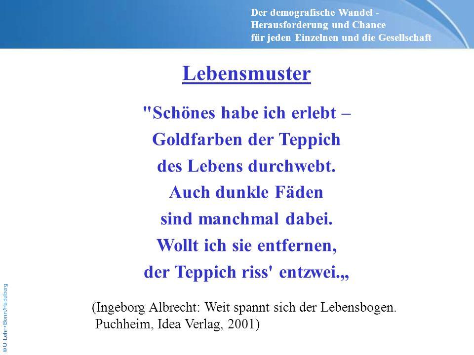 © U. Lehr Bonn/Heidelberg Lebensmuster