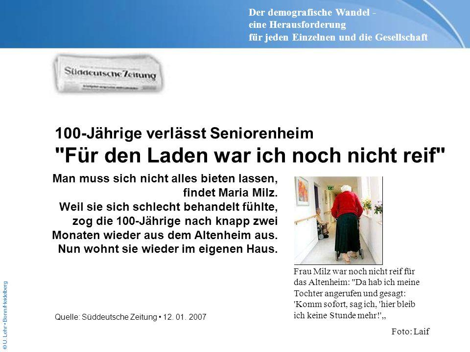 © U. Lehr Bonn/Heidelberg 100-Jährige verlässt Seniorenheim
